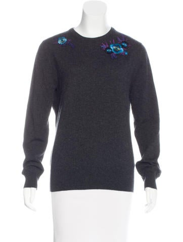 Christopher Kane Cashmere Embroidered Sweater None