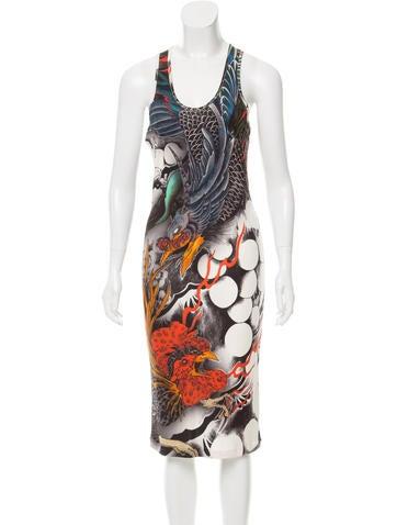 Christopher Kane Silk Dragon Print Dress w/ Tags None