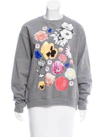 Christopher Kane Floral Crewneck Sweatshirt None