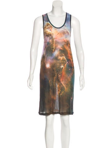 Christopher Kane Sleeveless Galaxy Print Dress None