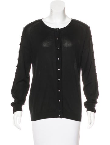 Christopher Kane Swarovski-Embellished Long Sleeve Cardigan None