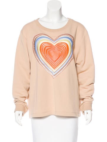 Christopher Kane Embellished Oversize Sweatshirt None