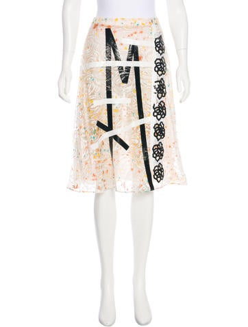 Christopher Kane Lace Embroidered Knee-Length Skirt None