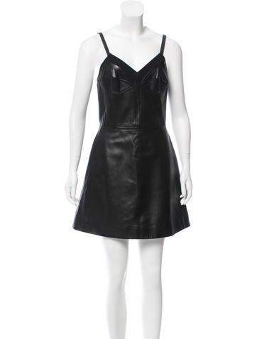 Christopher Kane Leather Mini Dress None