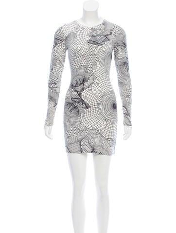 Christopher Kane Printed Mini Dress None