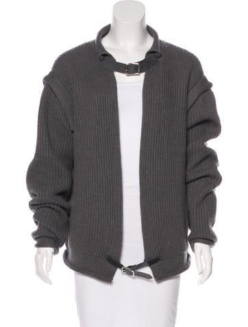 Christopher Kane Belt-Accented Cashmere Sweater None
