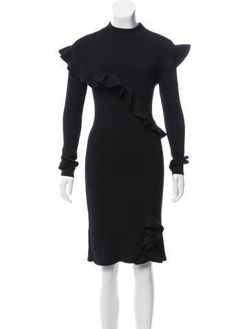 Christopher Kane Wool Rib Knit Dress None