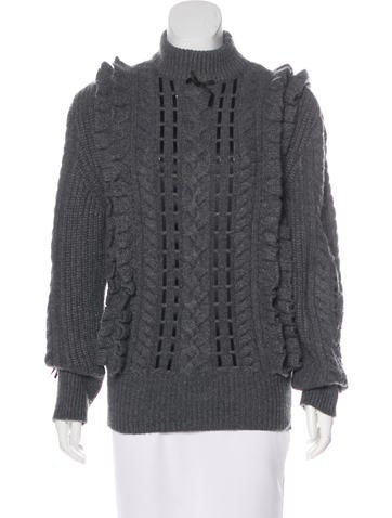 Christopher Kane Cashmere Cable Knit Sweater None