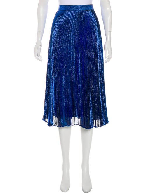 Christopher Kane Metallic Silk Skirt metallic