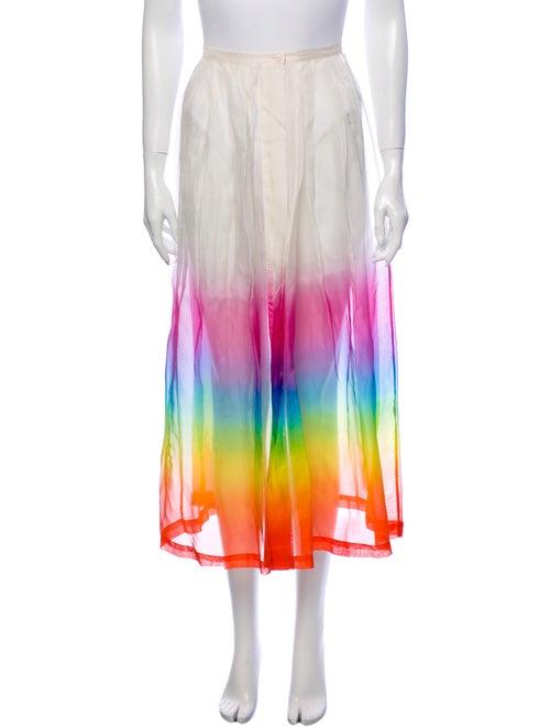 Christopher Kane Silk Midi Length Skirt