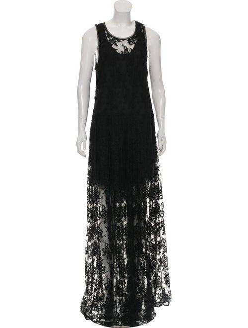 Chloé Mesh Maxi Dress Black