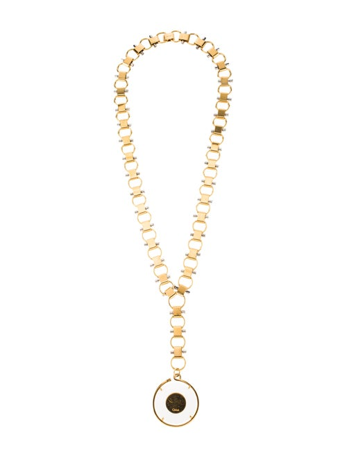 Chloé Terry Pendant Necklace Gold