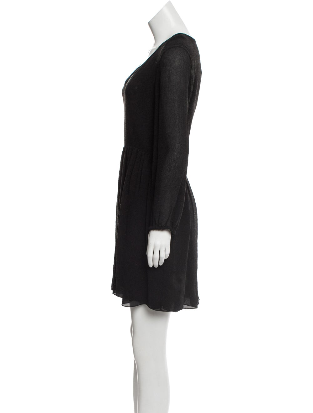 Chloé Silk Seersucker Dress w/ Tags Black - image 2