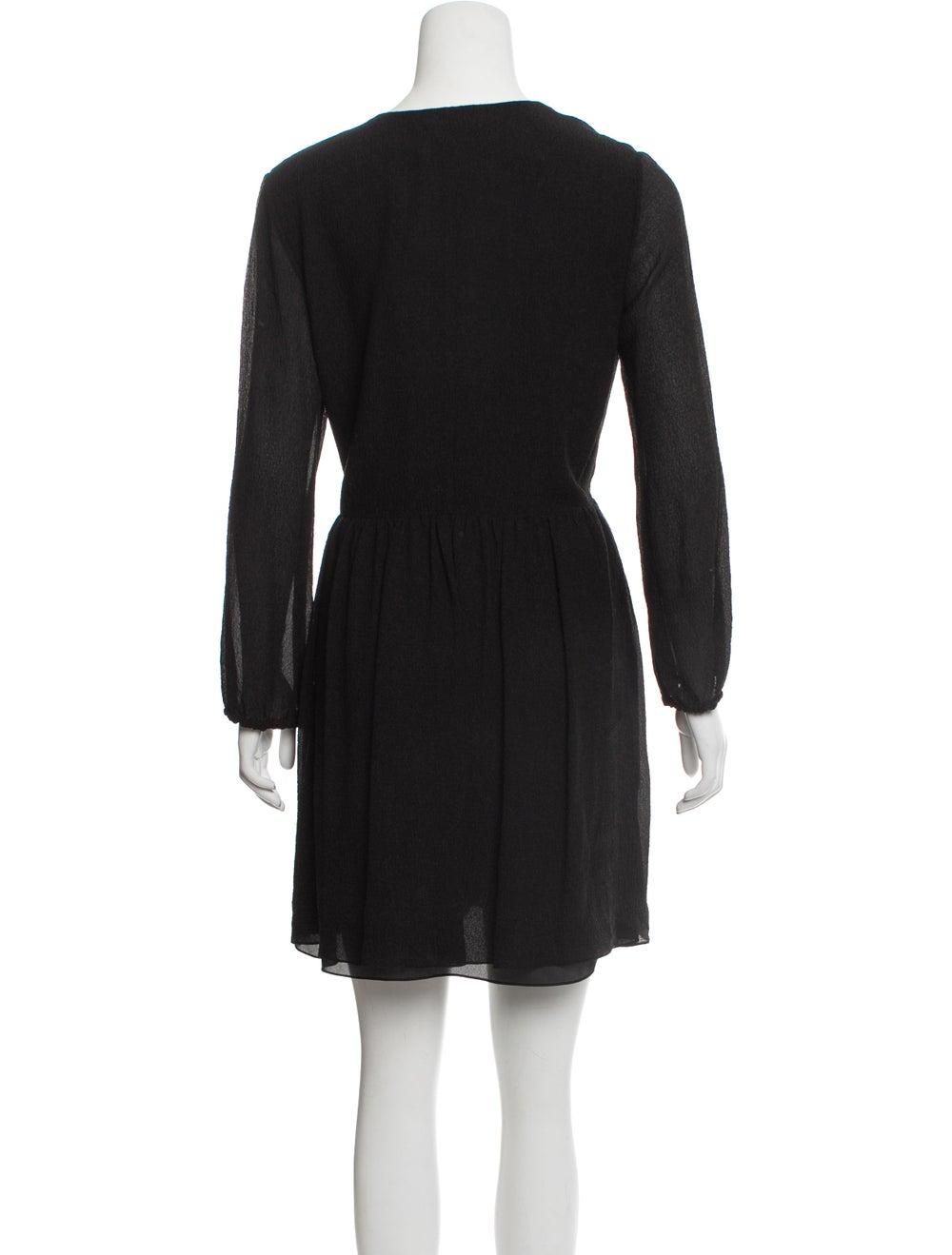 Chloé Silk Seersucker Dress w/ Tags Black - image 3