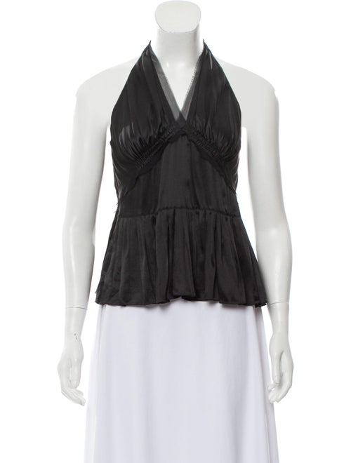 Chloé Silk Halter Top w/ Tags Black