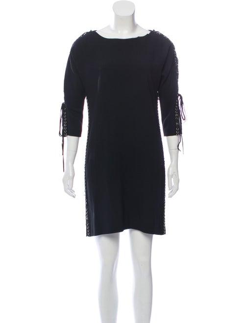 Chloé Embellished Lace-Up Dress Black
