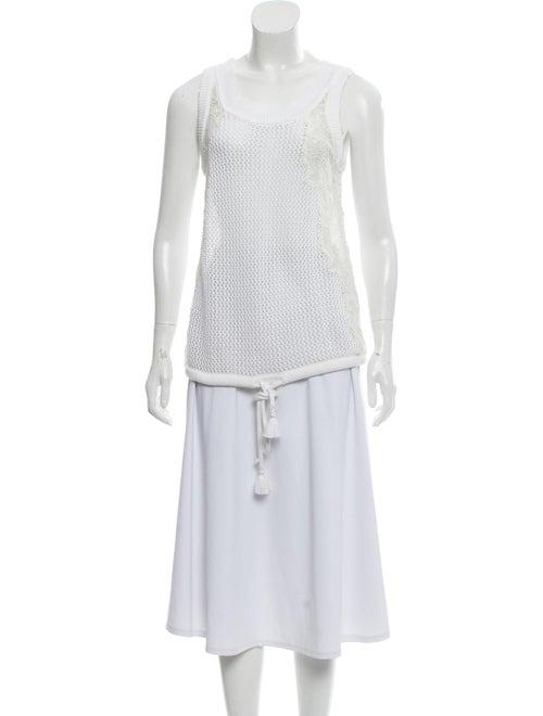 Chloé Sleeveless Knit Top White