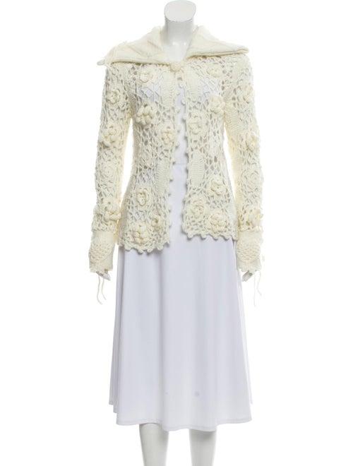 Chloé Crochet Knit Cardigan