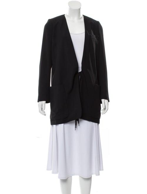 Chloé Collarless Structured Blazer Black