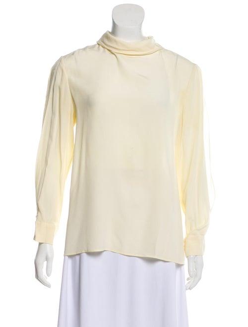 Chloé Silk Long Sleeve Blouse Yellow