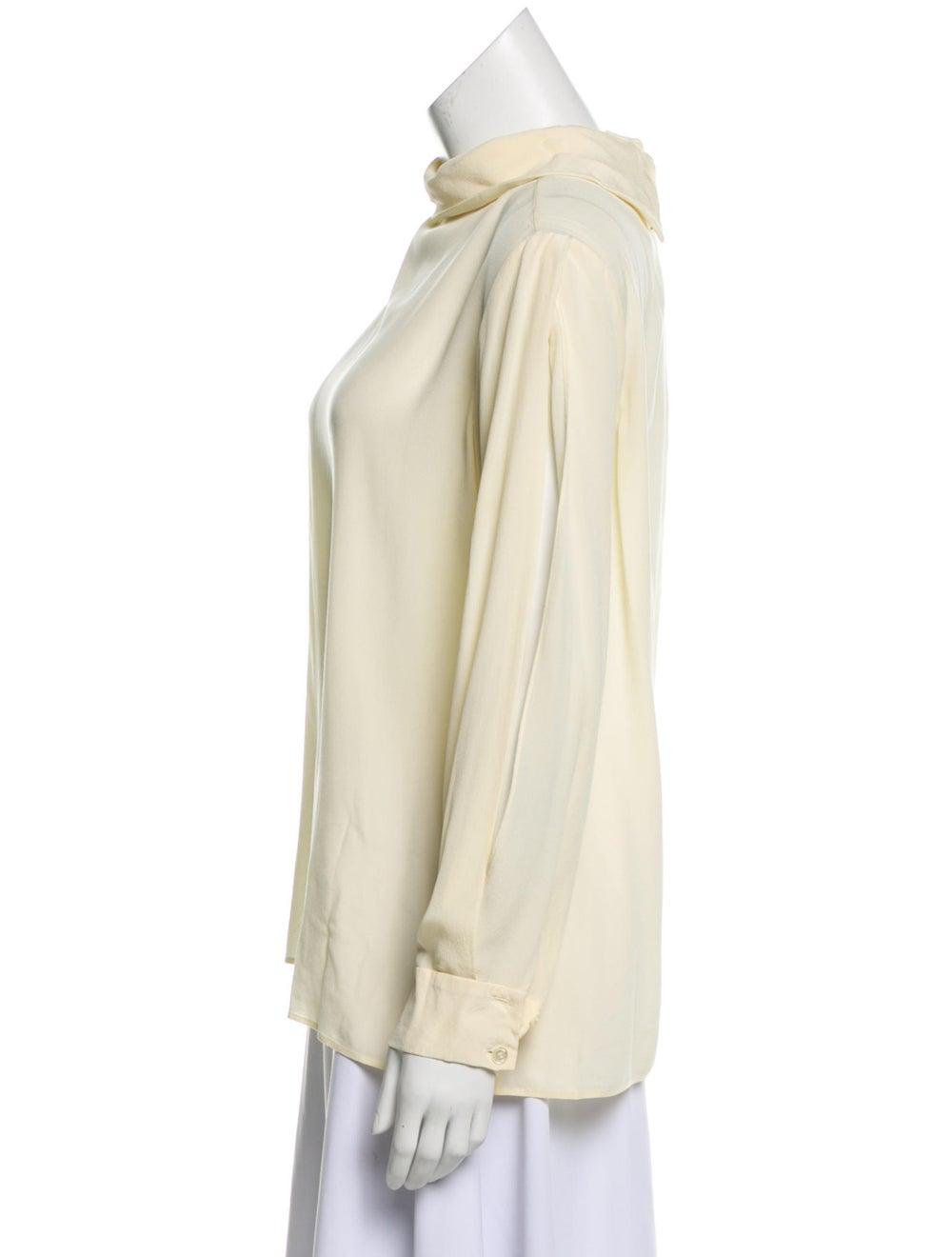 Chloé Silk Long Sleeve Blouse Yellow - image 2