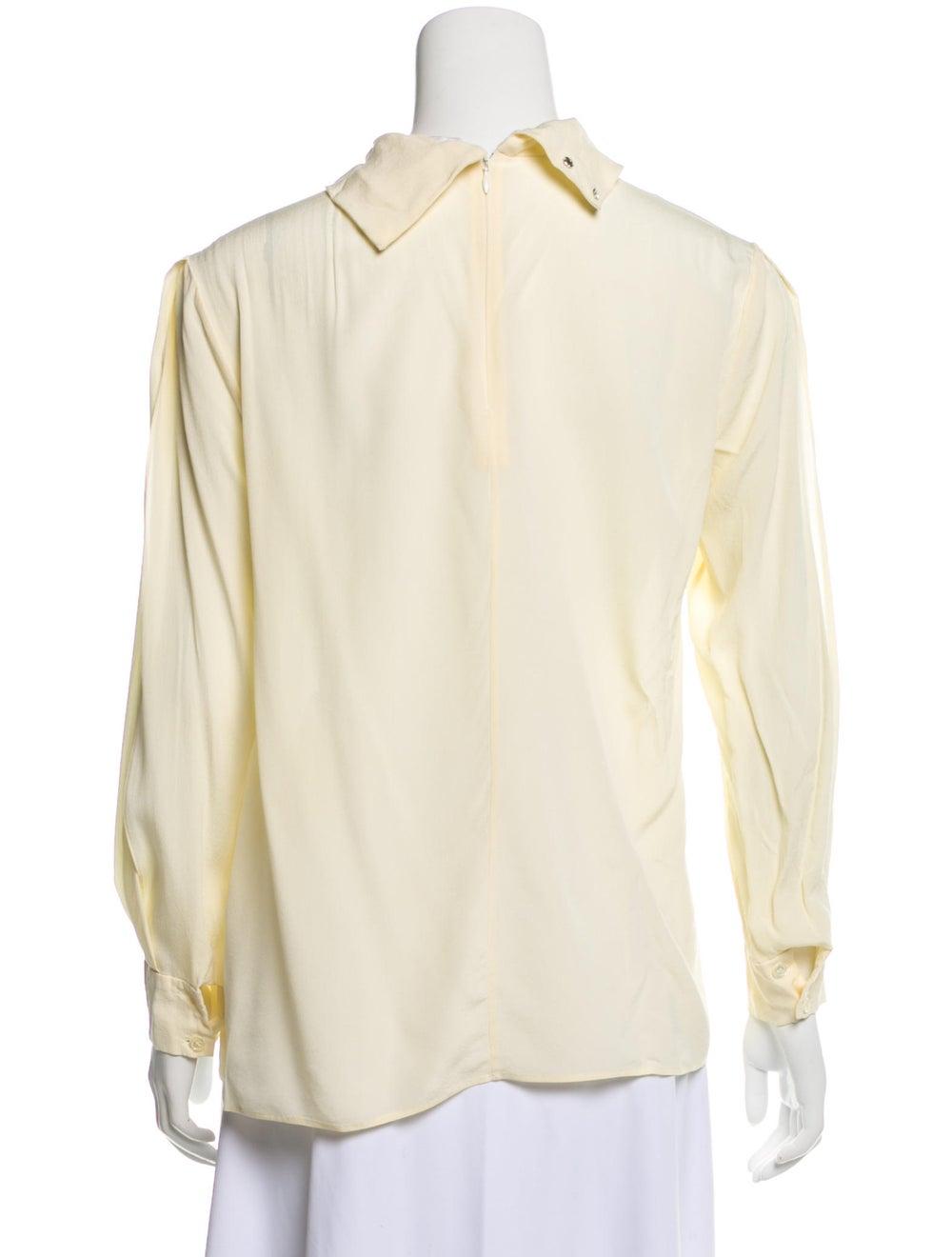 Chloé Silk Long Sleeve Blouse Yellow - image 3