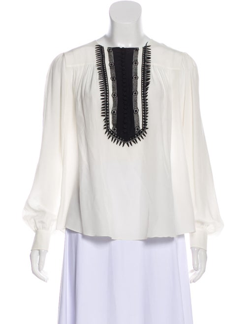 Chloé Silk Long Sleeve Blouse White - image 1