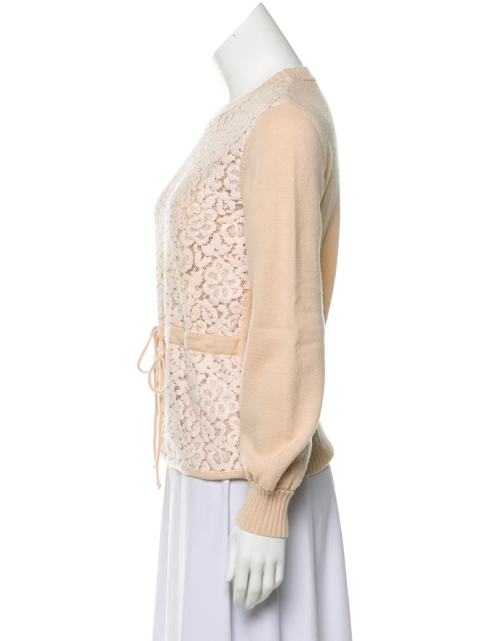 Chloé Wool Lace Sweater Pink - image 2