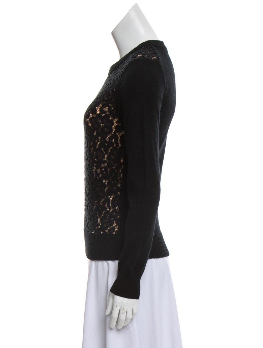 Chloé Virgin Wool Lace Sweater Black - image 2