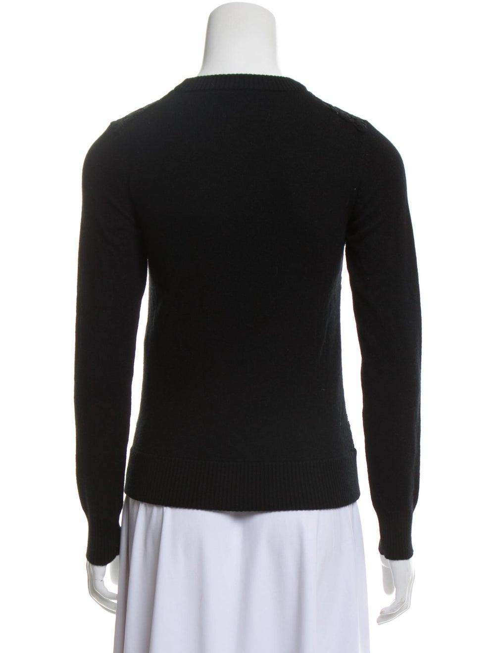 Chloé Virgin Wool Lace Sweater Black - image 3
