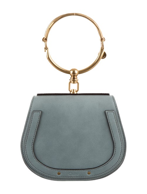 Chloé Nile Small Bracelet Crossbody Bag Blue