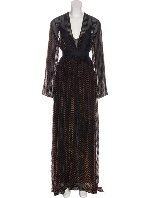 Chloé Long Sleeve Maxi Dress Black