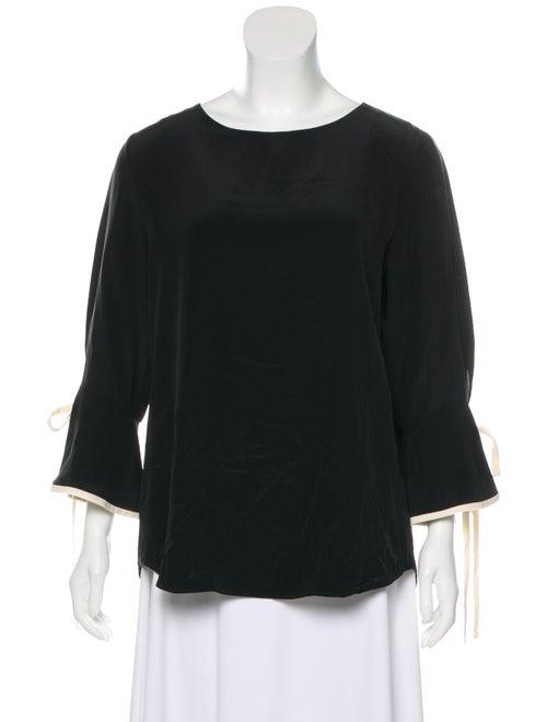 Chloé Silk Long Sleeve Blouse Black
