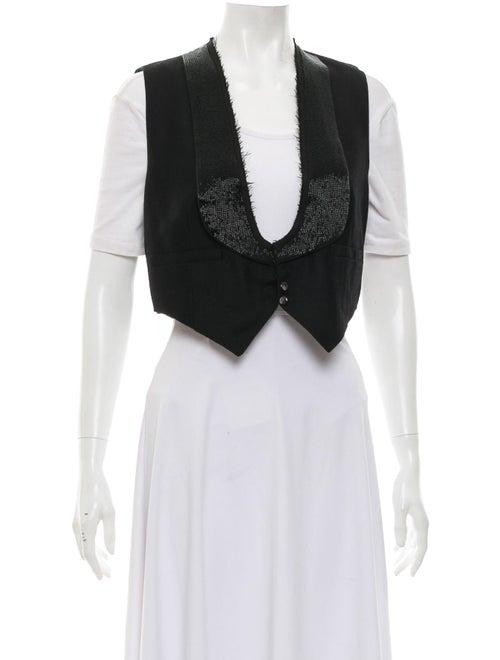 Chloé Wool Embellished Vest Black
