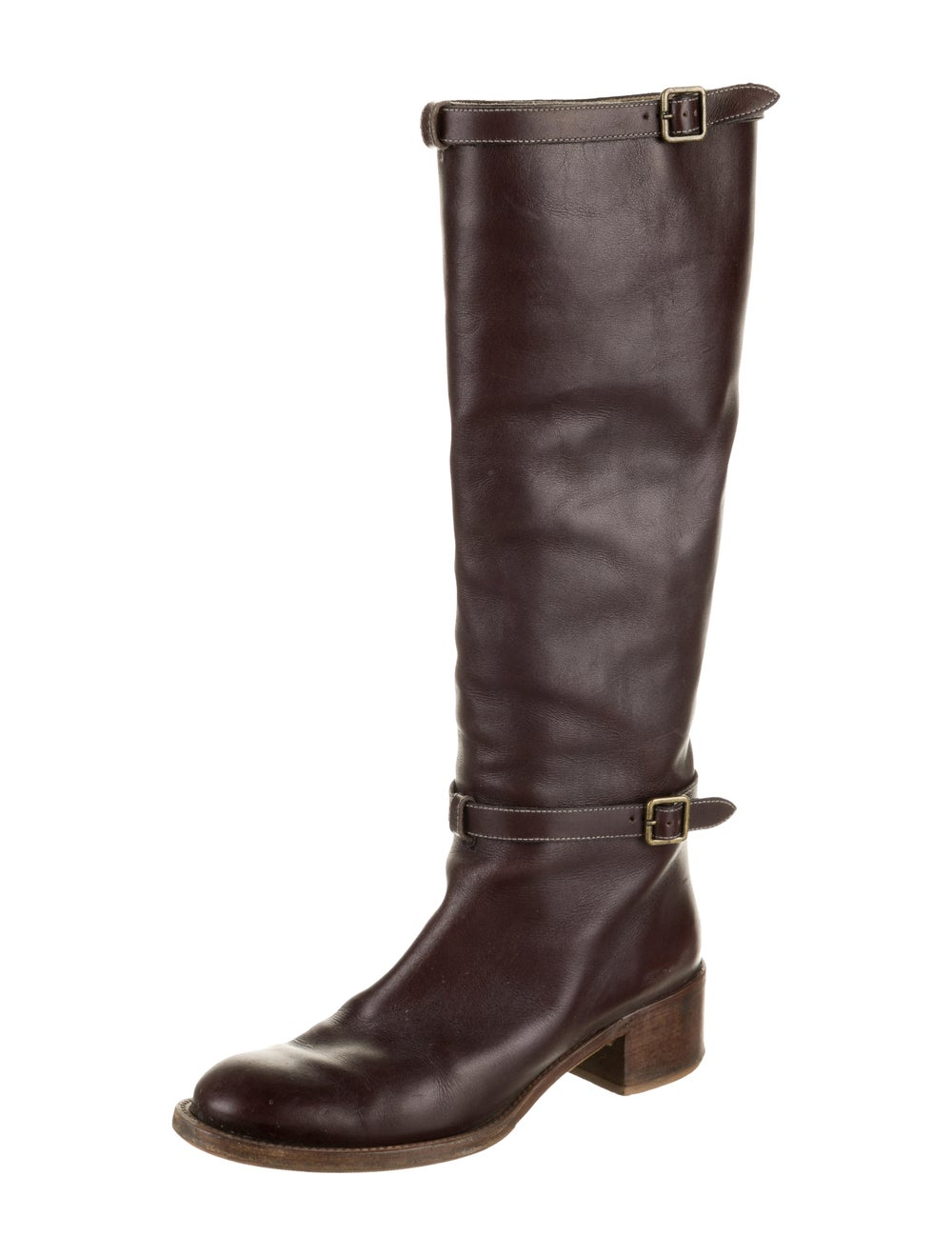 Chloé Leather Knee-High Boots Brown - image 2