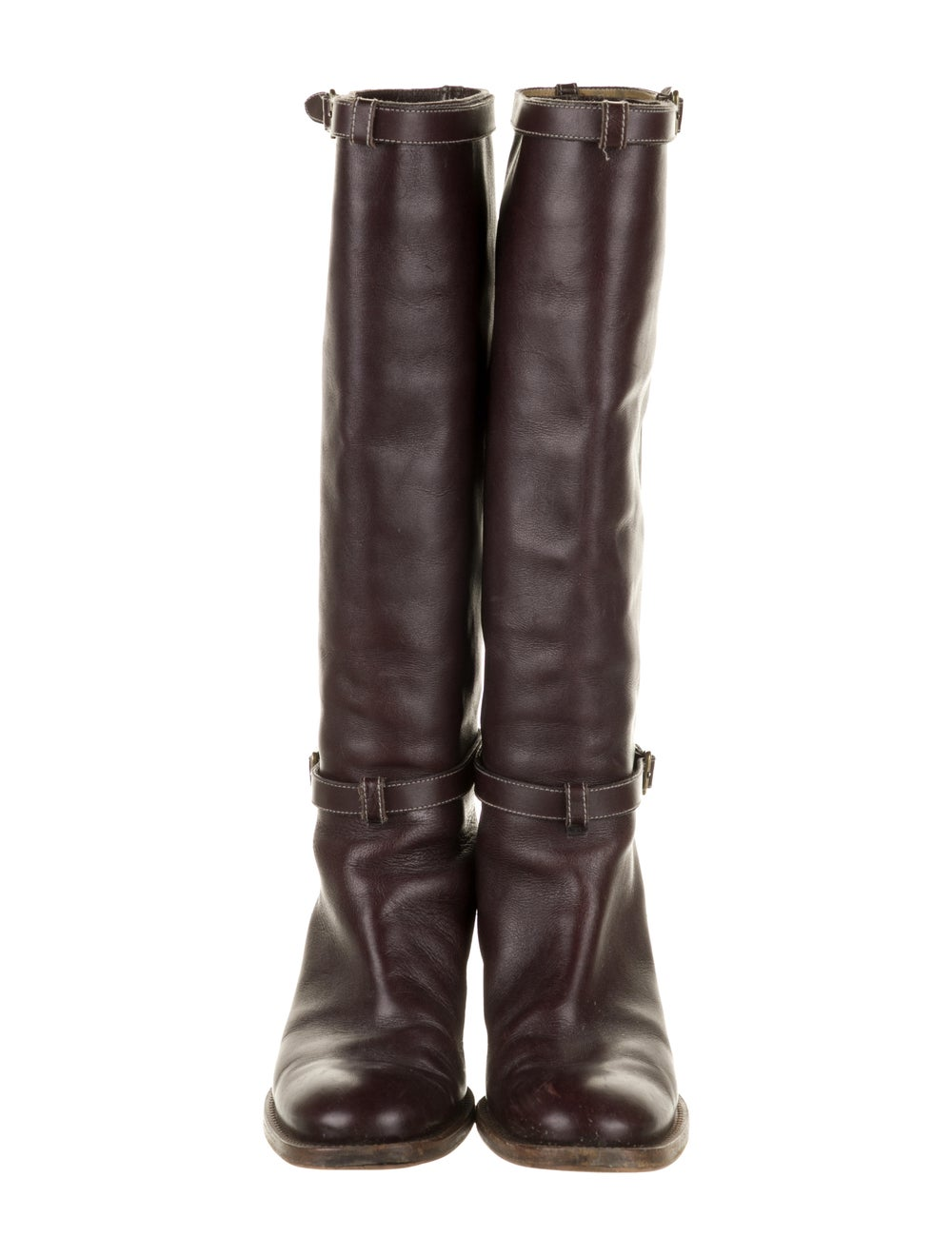 Chloé Leather Knee-High Boots Brown - image 3