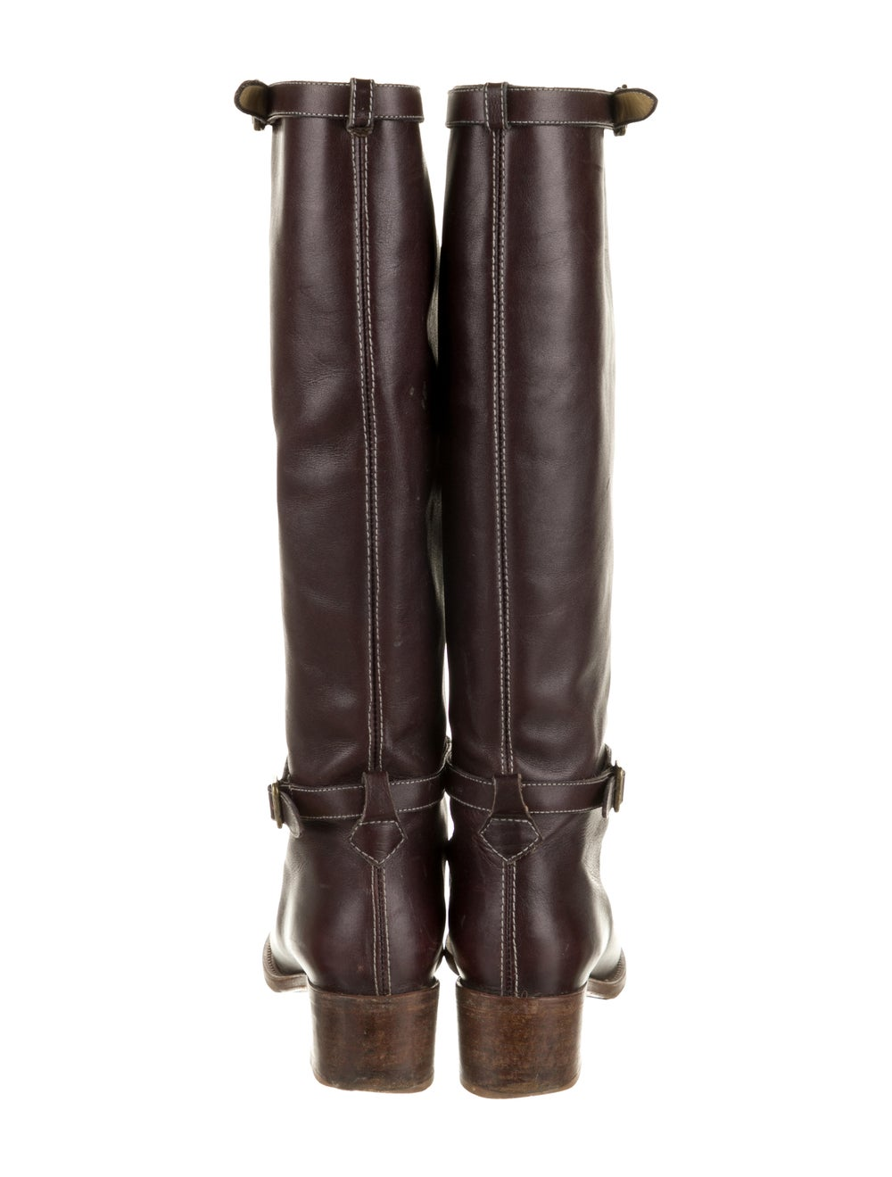 Chloé Leather Knee-High Boots Brown - image 4