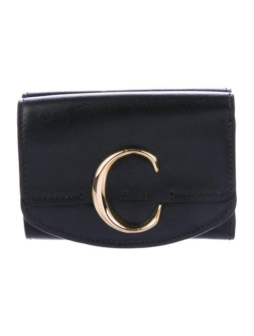 Chloé C Leather Wallet Black