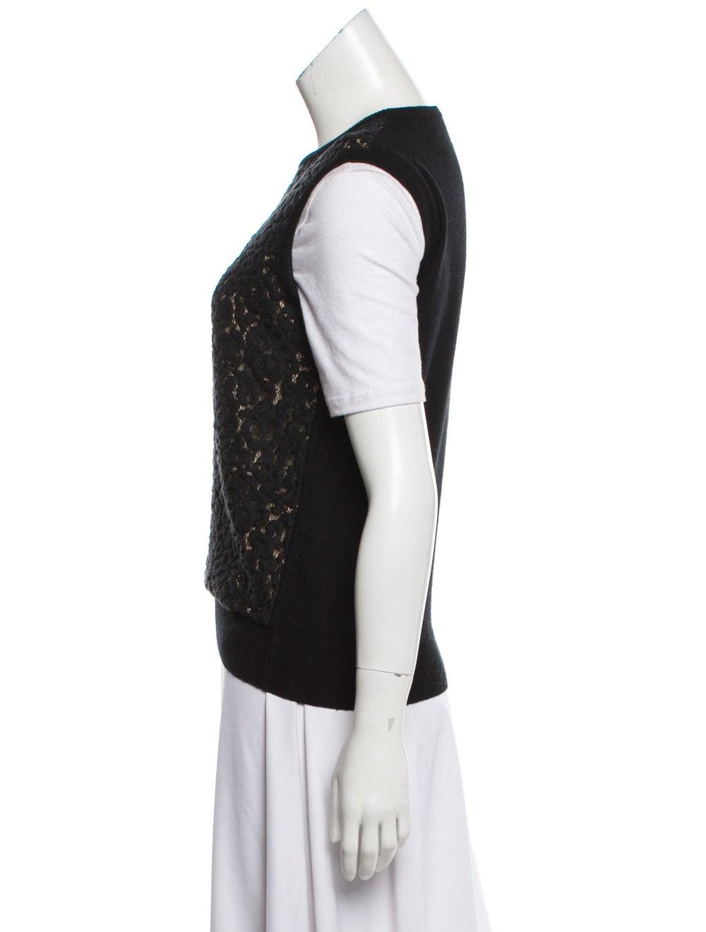 Chloé Wool & Cashmere-Blend Sweater Vest Black - image 2