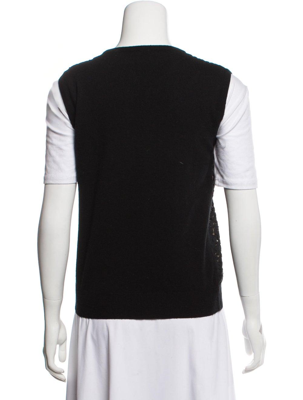 Chloé Wool & Cashmere-Blend Sweater Vest Black - image 3