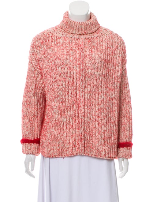Chloé Knit Long Sleeve Turtleneck Red