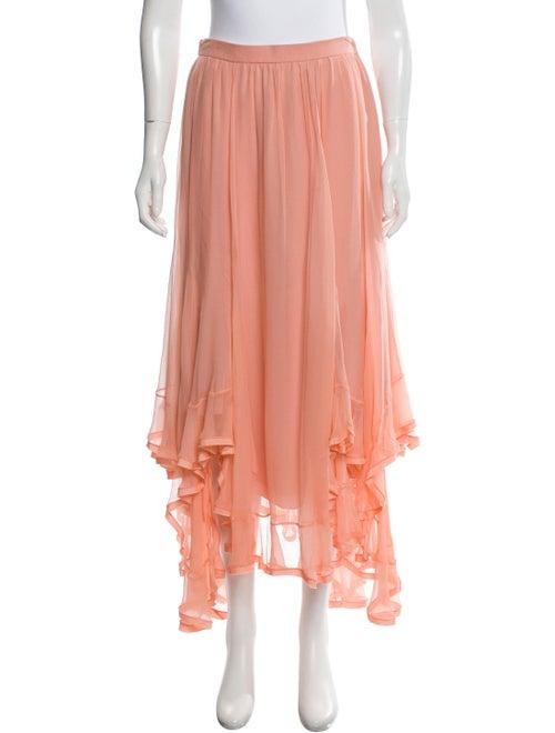 Chloé Silk Asymmetrical Midi Skirt