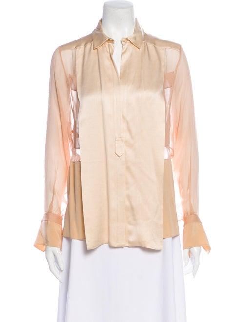 Chloé Silk Long Sleeve Blouse