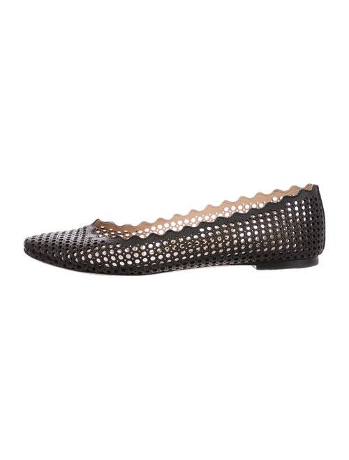 Chloé Lauren Leather Ballet Flats Black