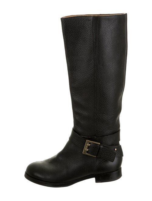 Chloé Leather Knee-High Boots Black
