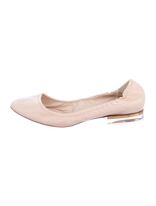 Chloé Leather Ballet Flats Beige