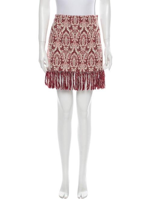 Chloé Printed Mini Skirt w/ Tags Red