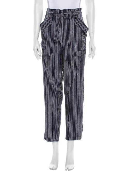 Chloé Striped Wide Leg Pants Blue