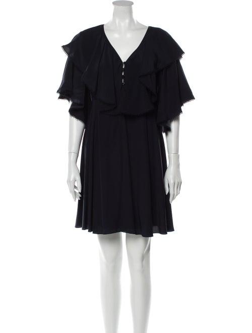 Chloé Silk Mini Dress Blue