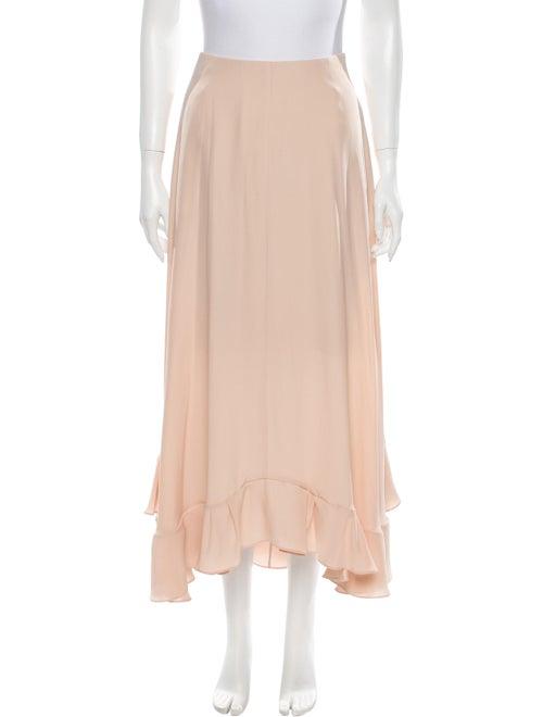 Chloé Silk Midi Length Skirt Pink